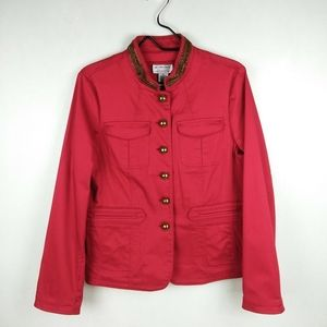 Victor Costa Occasions Red Military Jacket